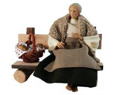 Belén de diseño de pastora en banco * RUCO - móvil de ropa para cuna