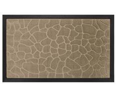 Deco Tapis - 1740252, Tapete De Entrada Rectangulo, 45 X 75 Cm, Galets, Alfombra De Entrada, Beige