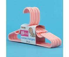 Hangerworld - Perchas De Plástico Para Niños Con Barra, Color Rosa, 29 cm, 80 Unidades