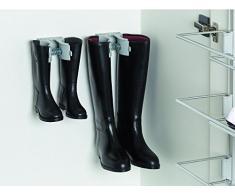 GedoTec Profesional Soporte de botas Soporte para zapatos para atornillar Tensor de botas Plástico colores de aluminio Botas-clip incl. Material de montaje Calidad de marca para su Sala de estar