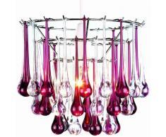 Lighting Web - Lámpara de techo (acrílico), diseño de lágrimas, color violeta y transparente