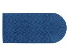 "Andersen 273566116 agua HOG entrada interior/exterior alfombra, Grand Classic, polipropileno Fibber, única Final, SBR goma Felpudo, 11.6 ""Longitud x 6 de ancho, 3/8"" de grosor, mediano), color azul"