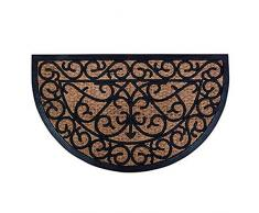 ESSCHERT DESIGN Felpudo de goma/Cocos clavijas para fijación, RB07, caucho y del tejido de fibra de coco, 75 x 45 x 1-
