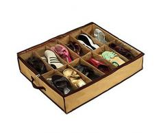 Mzamzi - Gran valor organizador del armario 12 pares de zapatos debajo de la cama del organizador del zapato
