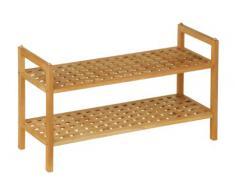 Premier Housewares - Zapatero de tablones de madera de nogal (2 repisas, 40 x 70 x 27 cm)