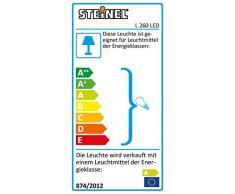 Steinel L 260 LED 007874 - Lampara LED con 360° detector de movimiento y efectos luminosos, aplique diseño de aluminio y cristal opalino, luz LED ambiental, 4 programas inteligentes