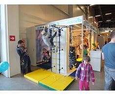 Tapete Plegable Suave de Gimnasia Color Verde/Amarillo para Niños - Suelo para Interiores de Salones de Juegos - Tapetes Lavables Grandes para Juegos dentro del Hogar - Tapete Grueso Antideslizante para Pasillos - Tapete Plegable