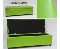 Asiento banco asiento cubo ropa sucia de caja, Verde, verde, 1