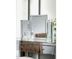 My-Furniture - Espejo espejo de tocador de dormitorio muebles-triple plegable - colleta