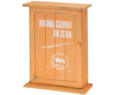 Incluye una caja de madera con diseño de - armario de llaves - Llavero de - Bolsa de almacenamiento para llaves - con aspecto envejecido