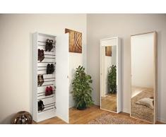 zapatero móvil con puerta de espejo. Zipporah Dimensiones: L 49 P 25 178 altura.