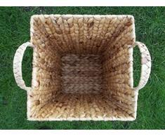 Paragüero, papelera de jacinto de agua con estructura de metal de tamaño de 2