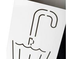 Paragüero diseño moderno metal 15,50 x 15,50 x 49 cm. (Gris)