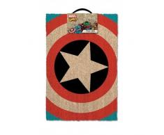 Pyramid International - Felpudo Con El Escudo Del Capitán América