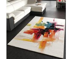 Paco Home Alfombra Moderna Splash Diseño Cepillo De Colores Novedad Embalaje Original, tamaño:80x150 cm