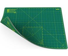 ANSIO A2 - Autocuraciónde doble cara, 5 capas de tapete de corte Imperial / Métrico, 22.5 pulgadas x 17 pulgadas (59 cm x 44 cm), color Verde