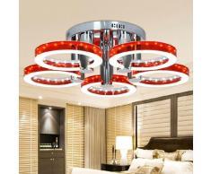 Lightinthebox 18W blanco cálido Montage de Flujo Contemporáneo Cromo Característica for LED acrílico Sala de estar Dormitorio lámpara de techo candelabro