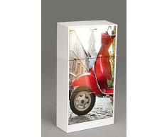 Kit Closet 4010140007 - Zapatero, diseño moto