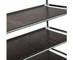 TecTake Estantería zapatero para calzado armario zapatos estante mueble 10 estantes 100x176x29,5 cm