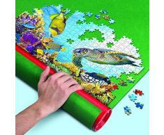 Clementoni-30229 Tapete para Puzzles Color Verde, (1)