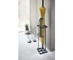 Yamazaki Umbrella Stand – Paragüero, Acero, Negro, 11 x 11 x 36 cm