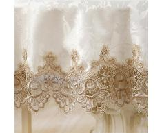 LILSN- mantel bordado mesa redonda de estilo europeo tejido de encaje jardín muela silla manteles de mesa de la bandera tapete de mesa de café ( Tamaño : 130*130cm )