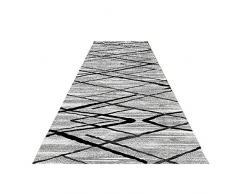 Pasillo Alfombras De Corredor Pasillo Largo Alfombra Patrón Geométrico Antideslizante Gránulo De Plástico Resistente Al Desgaste Antideslizante Pasillo (Color : Gray, Size : 0.6 * 3m)