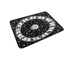 coosun horóscopo signo del zodiaco Círculo Blanco y Negro Felpudo, forma de puerta de interior al aire libre alfombra de entrada con base antideslizante., (23.6 por 15.7-inch)
