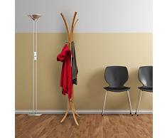Relaxdays – Perchero de pie de Madera (175 x 50 x 50 cm), Perchero de Abrigos de bambú, Natural