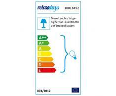 Relaxdays 10018492 - Lámpara de escritorio, Diseño industrial, Altura max: 41.5 cm, Pantalla ajustable