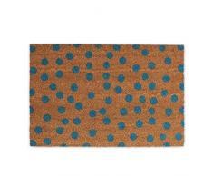 Relaxdays Fußmatte Punkte Aus Kokos, Rutschfest Felpudo Lunares, Fibra de Coco, Beige, 40x60x1.5 cm