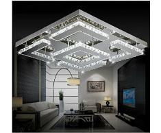 gowe cuadrado grande de diseo moderno led crystal lmpara de techo para saln lustre de crculos