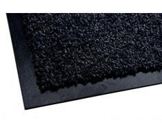 acerto 30214 Alfombrilla antisuciedad Premium Zanzibar Negra 40x60cm * Extremadamente Resistente * Exterior e Interior * Resistente a Las heladas * Libre de PVC - Limpia Puerta de Entrada Alfombrilla