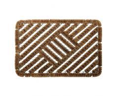 ID mate 4060 _ L Classic alfombra Felpudo fibra coco/acero galvanizado Beige 60 x 40 x 2,8 cm