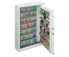 PHOENIX Cygnus Caja portallaves y Organizador Acero Blanco - Armario para Llaves (Acero, Blanco, 144 Colgador(es), Llave, 430 x 130 x 660 mm, 424 x 110 x 655 mm)
