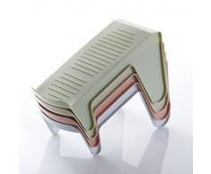 zhouzhouji Ajustable Plástico Estante Soporte de Calzado Zapatero Ahorro de espacio (Rosa)