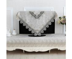 DELLT- mantel bordado mesa redonda de estilo europeo tejido de encaje jardín muela silla manteles de mesa de la bandera tapete de mesa de café ( Tamaño : 150*210cm )