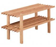 Zeller 13578 - Zapatero de bambú con 2 estantes (70 x 26 x 30 cm)