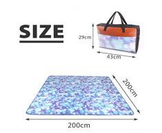 sourcingmap® Alfombra Lavable a máquina para picnic tapete para acampada en Playa y Viajes (200x200cm)