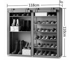 zapato doble polvo zapatero montado gabinetes de almacenamiento de botas simples baratos compartidas ( Color : #4 )