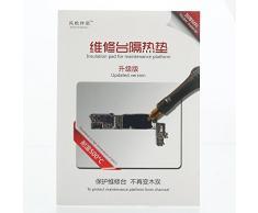 SATKIT Tapete silicona resistente al calor hasta 500ºC para trabajos de mantenimiento y reparacion