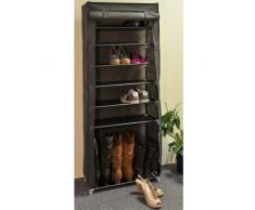 Hummelladen | | Tela de metal zapatero con 7 estantes, botas compartimento, 158 cm de alto | | Calzado zapatero estantería para zapatos