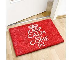 "Relaxdays - 40 x 60 cm, fibra de coco Felpudo, diseño de ""Keep Calm And Come In"""