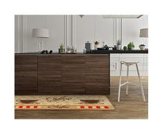 """Hogar y Cocina alfombra moderna alfombra antideslizante alfombra de cocina (de goma Felpudo Felpudo alfombra juego (taza de café 19.7 """"x 47.2"""")"""