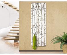 Perchero - No.YK15 Birch wall 139x46x2cm, percheros, perchero de pared, perchero pared, percheros pared, percheros modernos