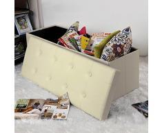 Taburete con almacenaje compra barato taburetes con for Puff zapatero barato