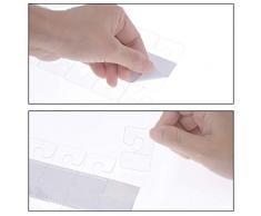 120Pcs Autoadhesivo Hang Tabs Euro agujero, multiperforado, para orificio, Gancho en forma de J y Agujero de ranura Hang Tabs Estilos de plástico transparente 2 - Paquete múltiple plegable