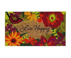 Evergreen Live Happy, 16 x Felpudo de fibra de coco 28 cm