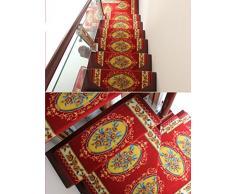 Escalera Alfombras Alfombrillas Escalera de madera maciza giratoria Alfombrilla de paso Pegamento libre Escaleras autoadhesivas Alfombra Autocebante Tienda completa ( Color : G , Tamaño : 100*24+3cm )