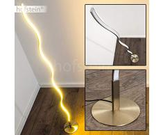 Lámpara de pie LED Dillon minimalista - 3000 kelvin blanco cálido – 1x 12W – 1000 Lumens